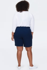 NYDJ Bermuda Shorts with 4 Pockets - Evening Tide - Back