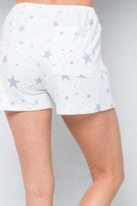 Star Print Jersey shorts - Blue - Back