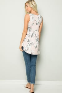 Floral Tunic Top - Back