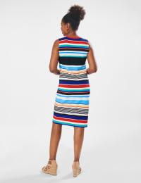Stripe Dress - Multi - Back