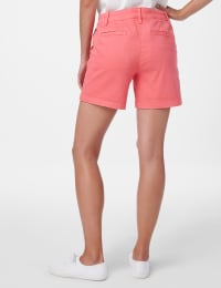 Fly Front Slant Pocket Shorts - Raspberry - Back