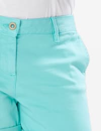 Fly Front Slash Pocket Shorts with Rolled Cuffs - Back
