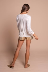 Shirt With A Touch of Gold - White - Back
