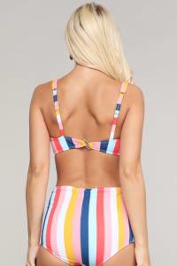 Rizzo Retro Inspired High Waist Bikini Set - Back