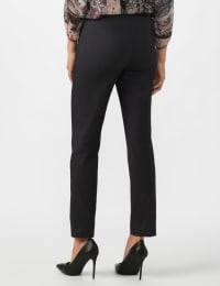 Superstretch Pull On Pants with Rivet Trim L Pockets - Black denim - Back