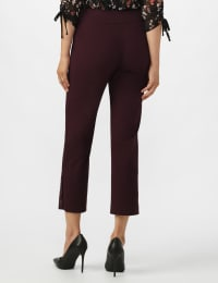 Superstretch Ankle Pants with Button Detail at the Hem - Cabernet - Back