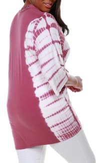 Grommet Tie Dye Cardigan - Velvet Mauve/Silver - Back