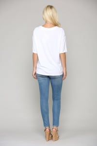Ali Suede and Jersey Top - Back