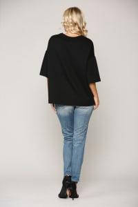 Kendra Colorblock Knit Top - Back