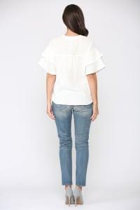 Giselle Cotton Gauze Top - Back
