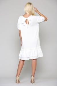 Francis Tunic Dress - White - Back