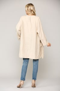 Larissa Linen Jacket - Antique White - Back