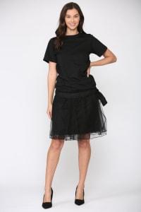 Mia Tulle Skirt - Black - Back