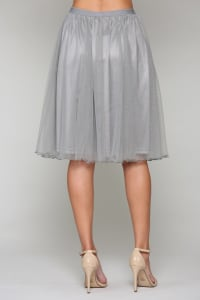 Mia Tulle Skirt - Gray - Back