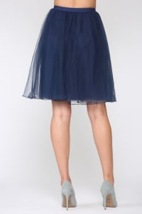 Mia Tulle Skirt - Navy - Back