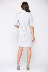 Winnie Cotton Dress - Silvery gray - Back