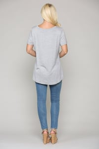 Kendall Crew Neck Top - Back