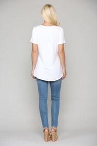 Kendall V-Neck Top - Back