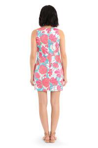 Vibrant Floral Dress - Back