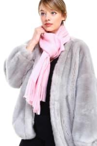 Cashmere Scarves - Pink - Back