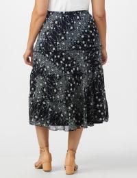 Bias Cut 4 Tiered Elastic Waist Pull On Skirt - Back