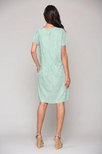 Audrey Tunic Dress - Sage - Back