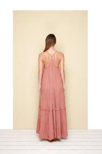 Esperanza Sleeveless Maxi Dress - Rosy - Back