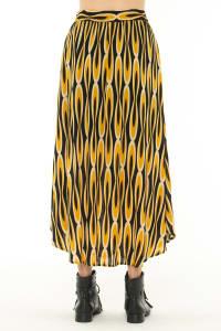 Maxi Skirt Azulejo Mustard - Back