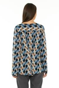Long Sleeve Blouse Escher Dark Blue - Back