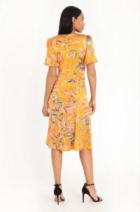 Floral Lisa Dress - gold - Back