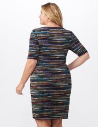 Tiered Bandage Dress - Plus - Teal - Back
