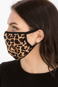 Wild Thing Fashion Face Mask - Leopard - Back