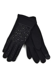 Starry Night Touch Screen Gloves - Black - Back