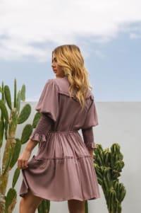 Simone Dress - Dusty Rose - Back