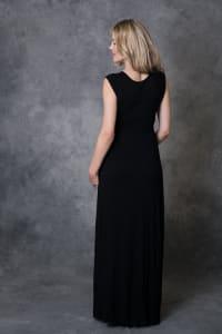 Rayon Maxi Dress - Black - Back