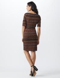 Tiered Bandage Dress - Rust - Back