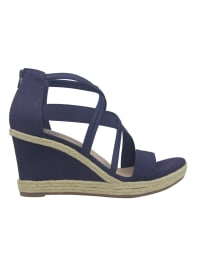 Impo Tacara Wedge Sandals - Midnight blue - Back