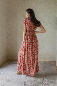 Valentina Dress - Framboise - Back