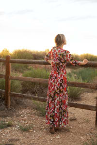 Reese Patch Floral  Dress - Back