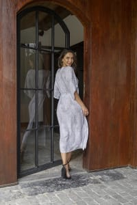Faith Dress - Plus - Viper White - Back