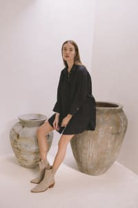 Effortless Oversized Shirt - Black - Back