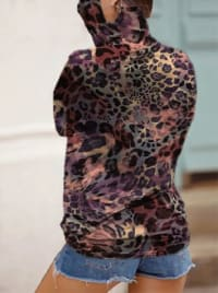 """Never Forget Your Mask"" Animal Print Fashion Top - Multi - Back"