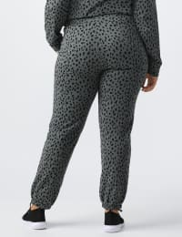 Animal French Terry Knit Jogger - Plus - Gray / Black print - Back