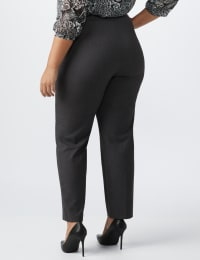 Roz & Ali Pull On Secret Agent Pant with L Pockets- Average Length   -Plus - Grey - Back