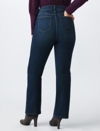 Plus Westport Signature Bootcut Denim Jean - Dark Wash - Back