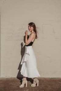 Sylvia Ruffle Wrap Skirt - Back