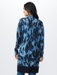 Roz & Ali Tie Dye Duster - Misses - Navy - Back