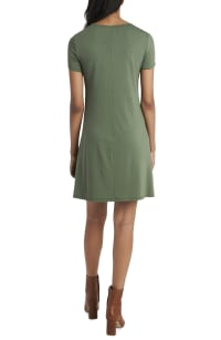 Classic Tee Shirt Dress - sage leaf - Back