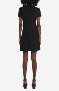 Classic Tee Shirt Dress - Black - Back