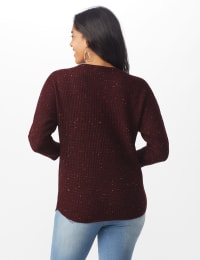 Westport Thermal Stitch Curved Hem Sweater - Misses - Florentine - Back